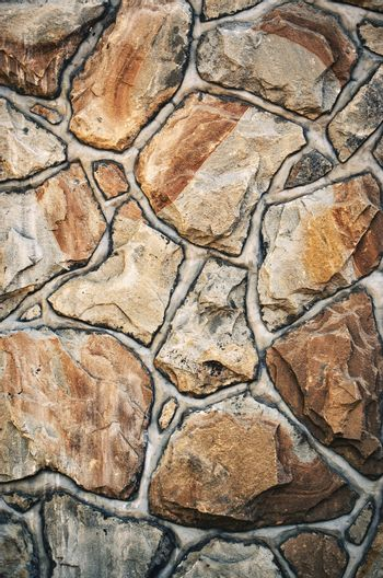 old sandstone stone wall