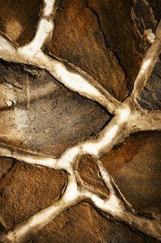 detail of sandstone stone pavement