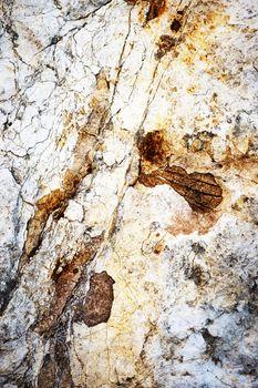 rust colored limestone rock