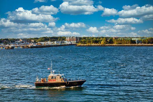 Pilot Boat in Blue Water