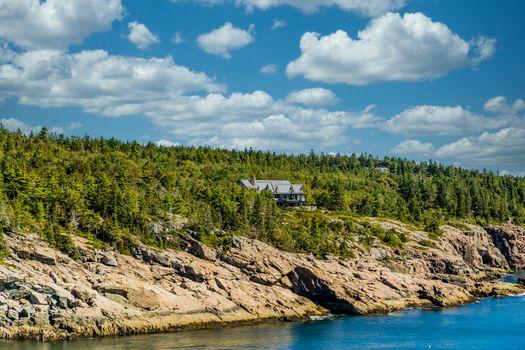 Mansion on Coast of Maine