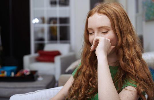 Shaming teenage girl smiles