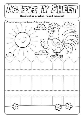 Activity sheet handwriting practise topic 2 - eps10 vector illustration.