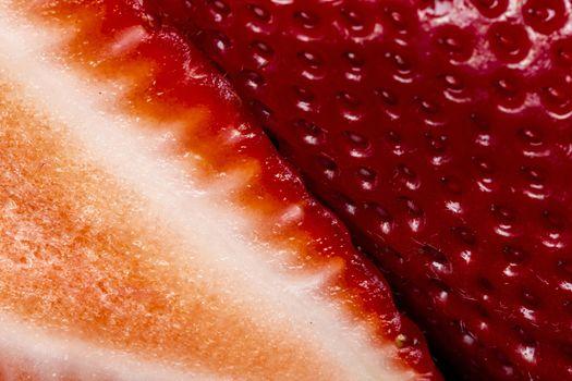 Macro Close Up Fruit Strawberry red macro photo