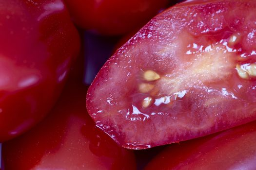 Close Up Cherry Tomato red colorful fruit vegetable