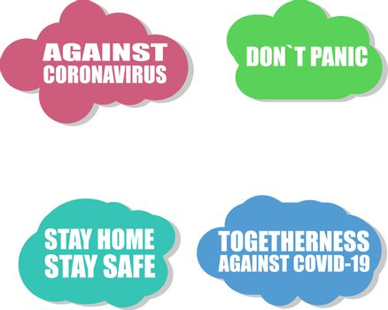 Against Coronavirus icon. COVID-19 icon. Pandemic. Against COVID 19. Stay Home Stay Safe. Sign isolated on white background