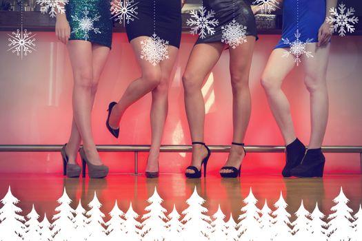 Composite image of sexy women legs