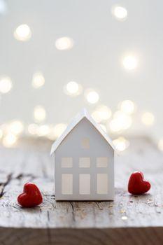 Little white house ornament