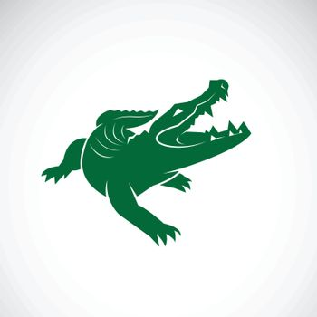 Vector of crocodile design on white background. Wild Animals. Reptile. Easy editable layered vector illustration.