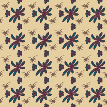 Elegant pattern with stylish flowers and leaves. Seamless template can be used for design fabric, cover, linens and more designs.