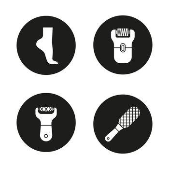 Feet care icons set