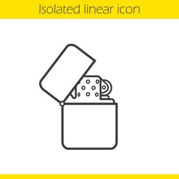 Gasoline lighter linear icon