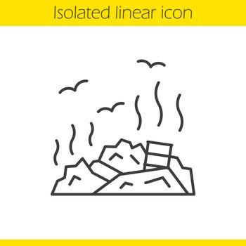 Rubbish dump linear icon