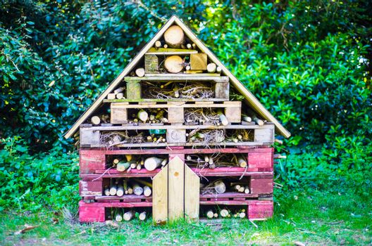 insect hotel decorative wood house with compartments