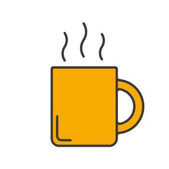 Steaming mug color icon