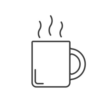 Steaming mug linear icon