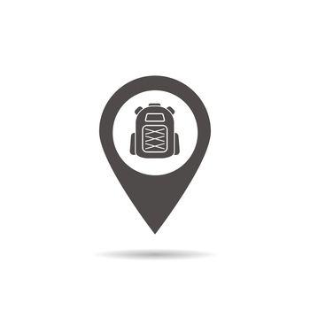 Hiking base location icon