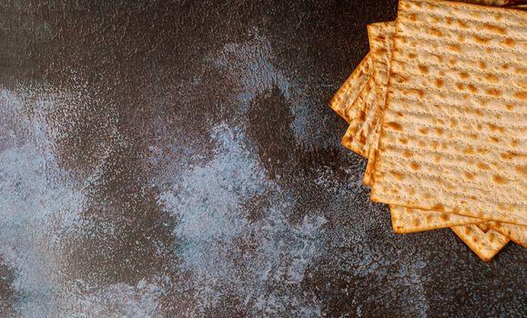 Passover matzos of celebration with matzo unleavened bread