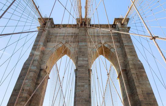Brooklyn Bridge, New York City Lower Manhattan, USA