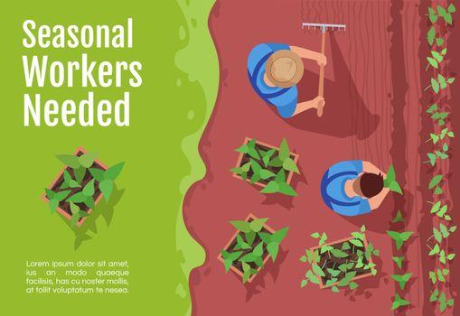 Seasonal workers hiring banner template