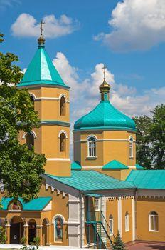 Orthodox Holy Tikhvin Monastery women's in early summer.
