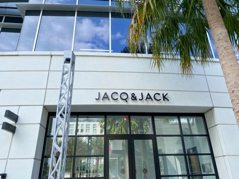 Orlando, FL/USA-4/10/20:  The exterior of Jacq & Jack Hair Salon in Lake Nona in Orlando, Florida.