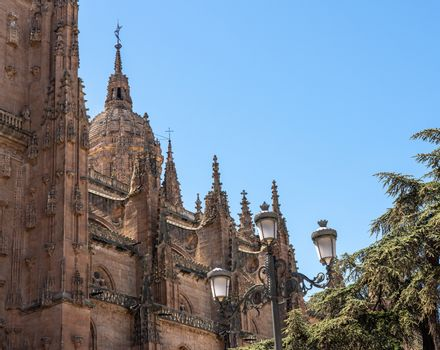 Ornate dome on the new Cathedral in Salamanca