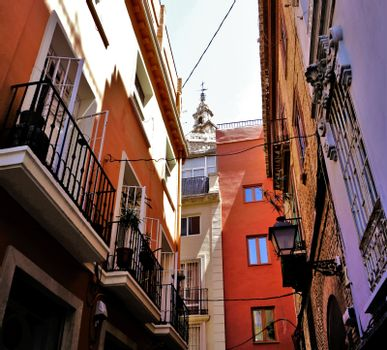 Tranquil street in the city center of Valencia