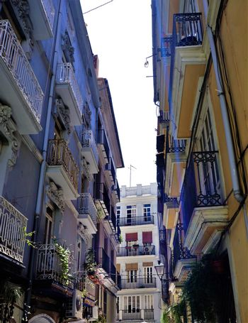 Beautiful street in the city center of Valencia
