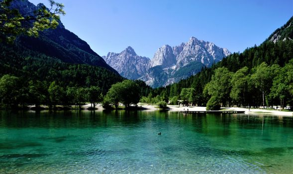 Beautiful on Jasna Lake in Kranjska Gora