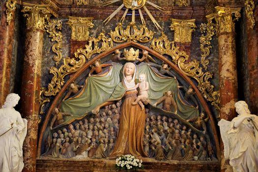 The Virgin of Mercy in the parish church of Ptujska Gora
