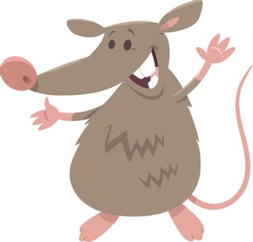 funny rat rodent animal character