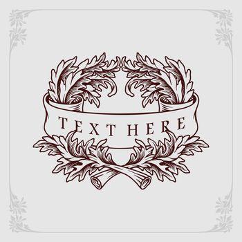 Design Flourish Label banner engraving
