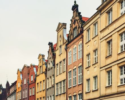 Historical building in the Old Town in Gdansk, Poland