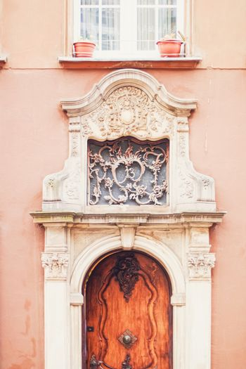 Detail of a historical building in the Old Town in Gdansk, Poland