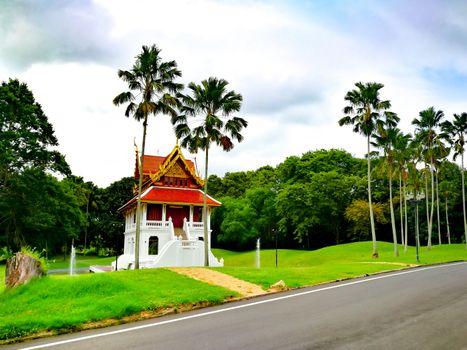 Pattaya Chonburi, Thailand. Landscape of Thai gazebos-temple (sa
