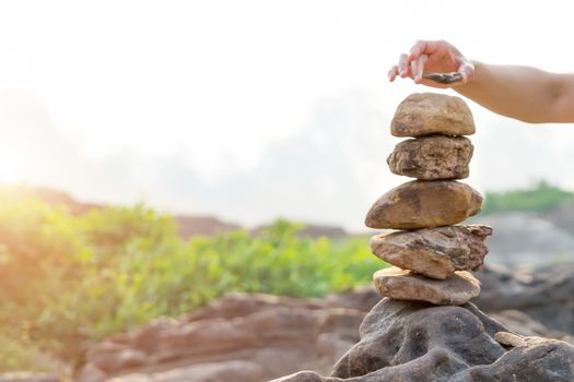 Balance and harmony stone stack, the difference always outstandi