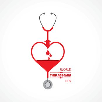 Vector illustration on the theme of world Thalassemia day observed on May 8th every year. Thalassemias are inherited blood disorders characterized by decreased hemoglobin production