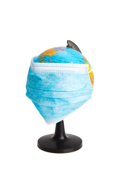 Coronavirus / Corona virus concept. world/ earth put mask to fight against Corona virus.