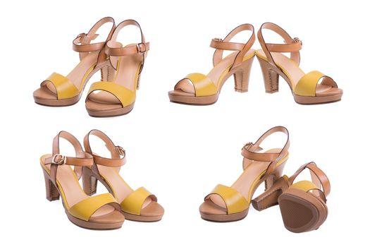 various angle of high heel