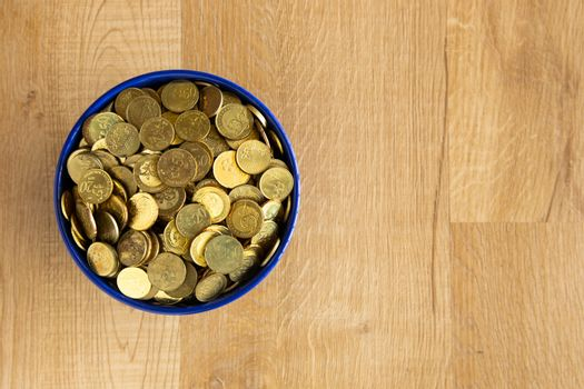 bowl of gold coin
