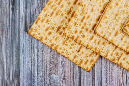 Jewish holiday passover with matzoh jewish unleavened bread