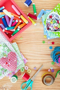 Colorful needlework utensils