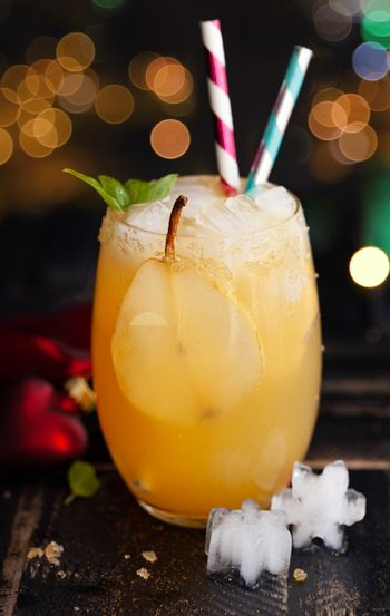 Fruity cocktail with pear