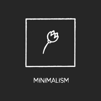 Minimalism style chalk white icon on black background