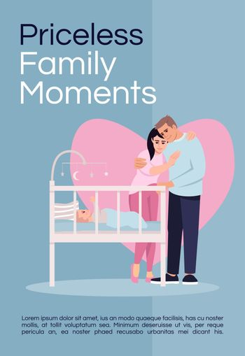 Priceless family moments poster template