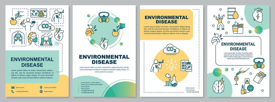 Environmental disease brochure template