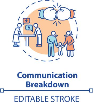 Communication breakdown concept icon
