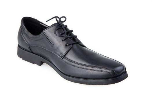 man leather shoe isolated on white background