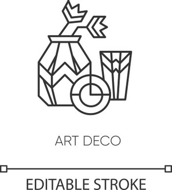 Art deco style pixel perfect linear icon